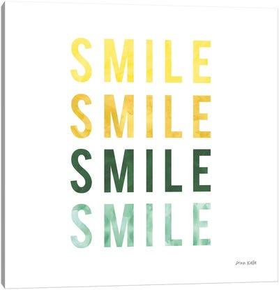 Smile Smile Canvas Art Print