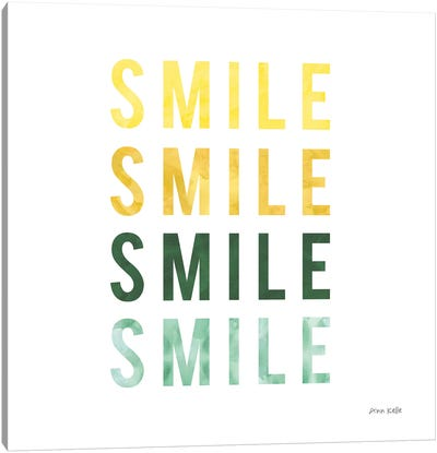 Smile Smile Canvas Art Print
