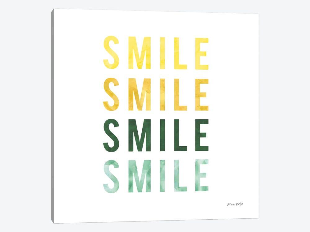 Smile Smile by Ann Kelle 1-piece Canvas Wall Art