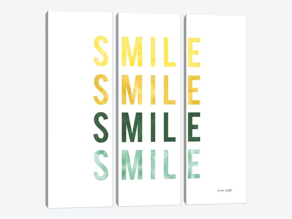 Smile Smile by Ann Kelle 3-piece Canvas Artwork