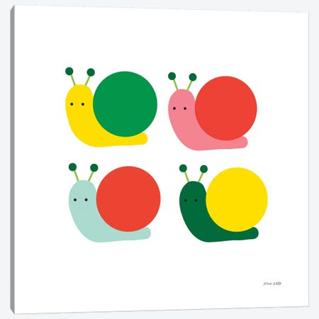 Snails Four Canvas Print #NKL74} by Ann Kelle Art Print