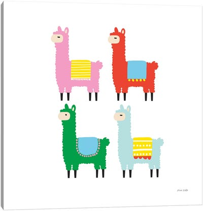 The Llamas Canvas Art Print