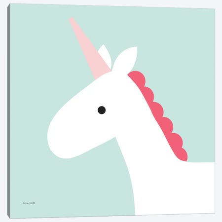 Unicorn Canvas Print #NKL84} by Ann Kelle Canvas Artwork