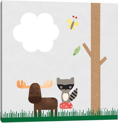Woodland Animals I Canvas Art Print