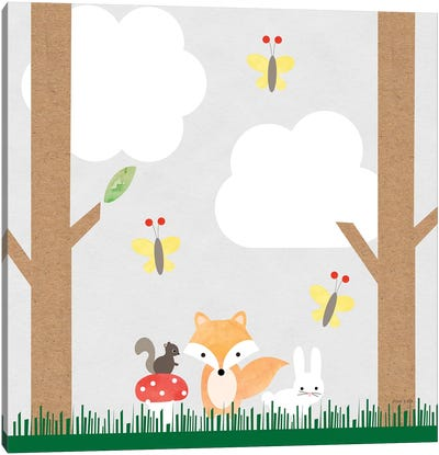 Woodland Animals II Canvas Art Print