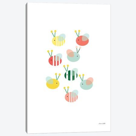 Bumblebee Friends Canvas Print #NKL8} by Ann Kelle Art Print