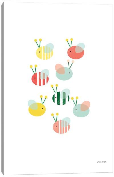 Bumblebee Friends Canvas Art Print