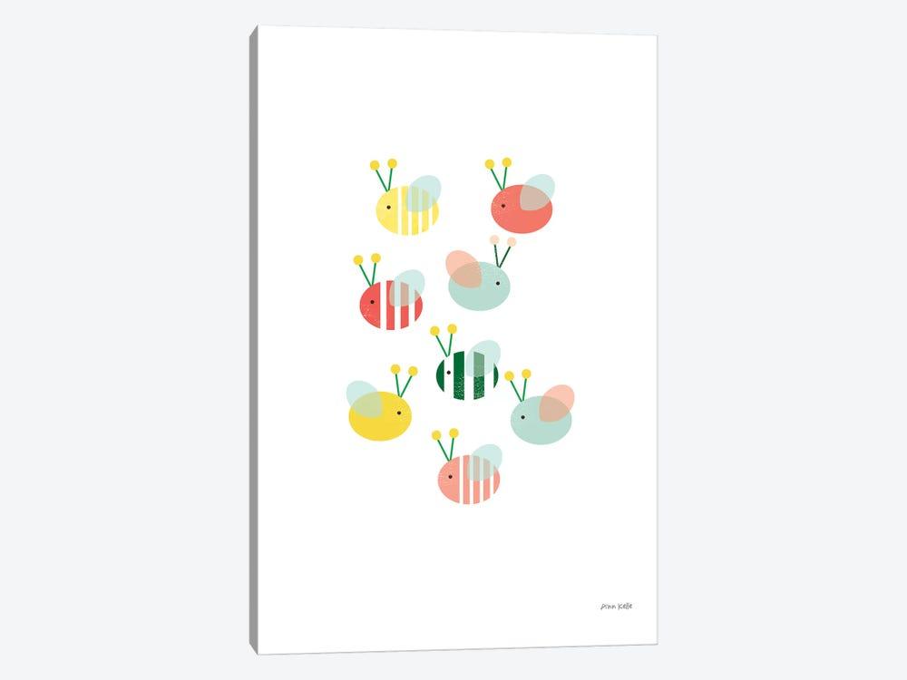Bumblebee Friends by Ann Kelle 1-piece Canvas Print
