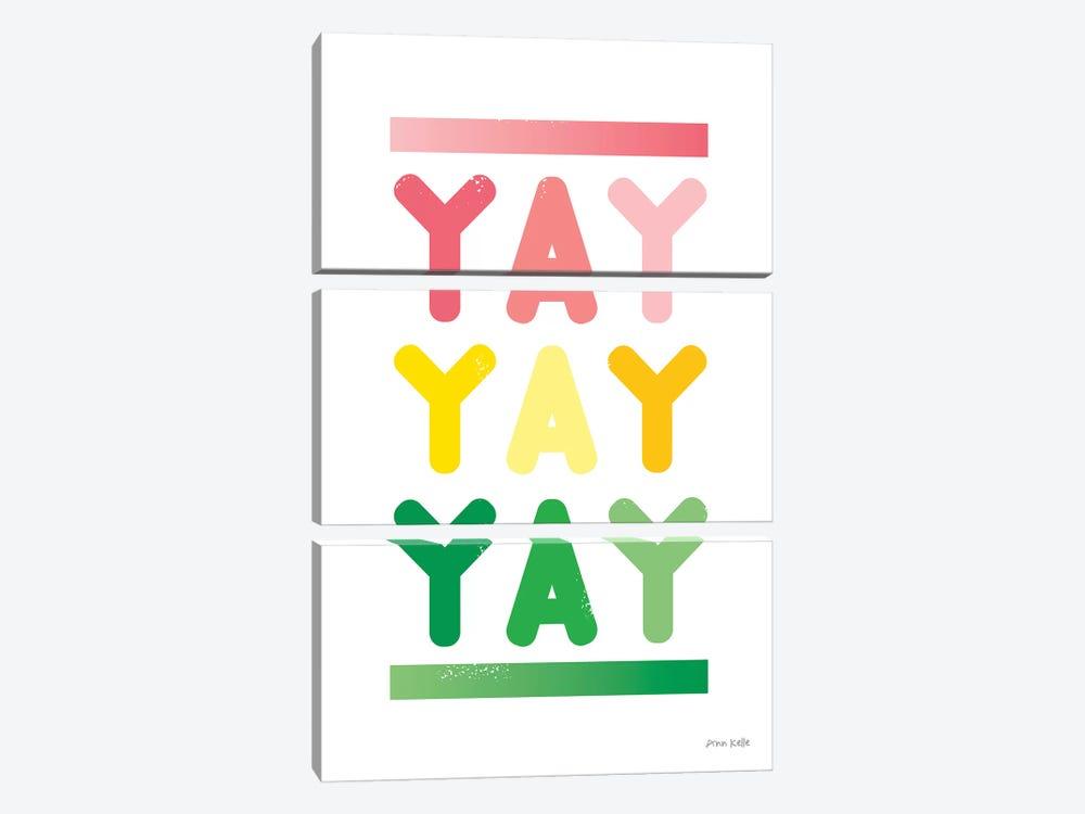 Yay by Ann Kelle 3-piece Art Print