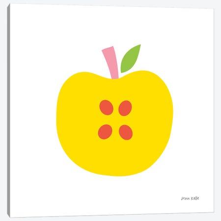 Yellow Apple Canvas Print #NKL91} by Ann Kelle Canvas Art