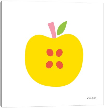 Yellow Apple Canvas Art Print