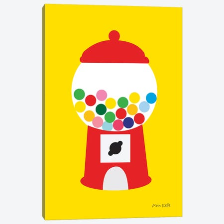 Gumball Machine Canvas Print #NKL94} by Ann Kelle Art Print