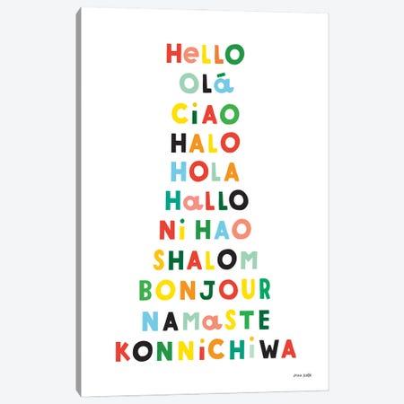 Language Of Hellos Canvas Print #NKL98} by Ann Kelle Canvas Art