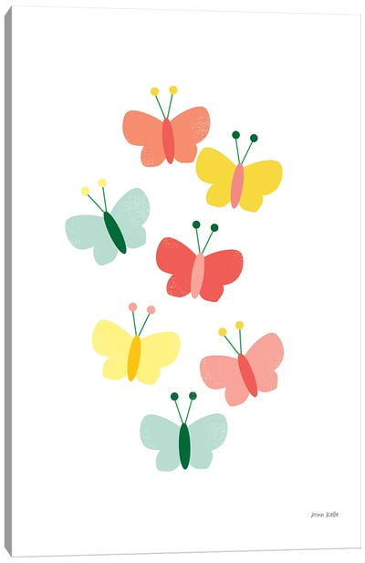 Butterfly Friends Canvas Art Print