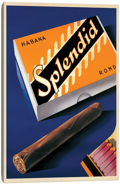 Splendid, Habana, 1930 Canvas Art Print