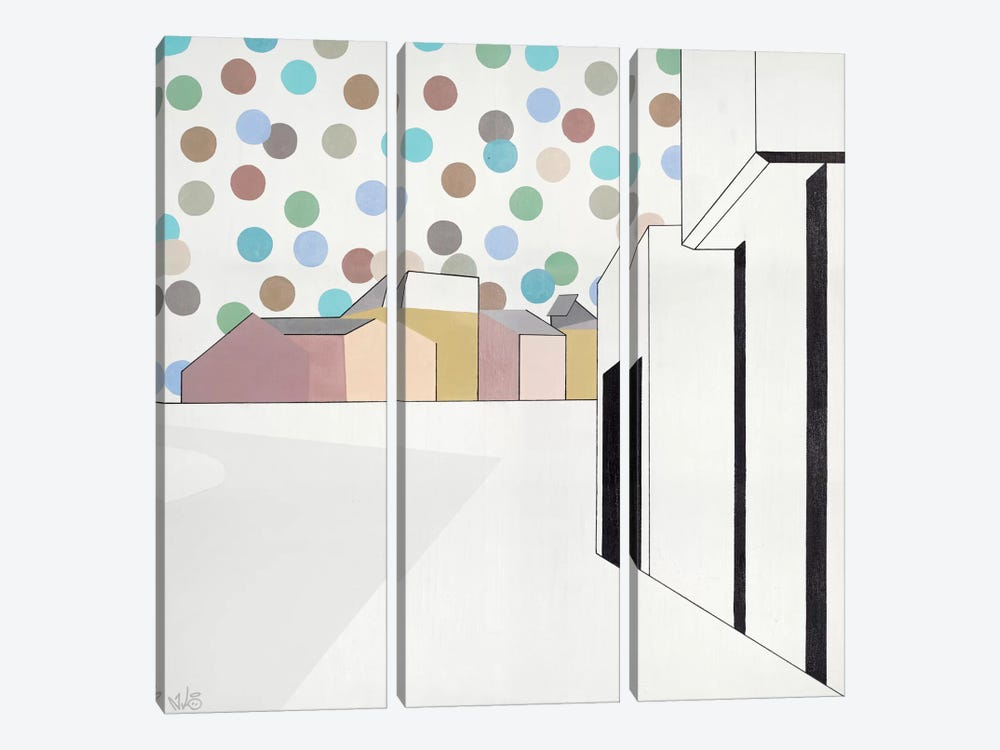 Perspektive I by Nicolai Kubel Olesen 3-piece Canvas Art Print