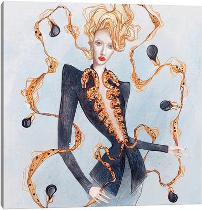 Fashion Eggplant Canvas Art Print