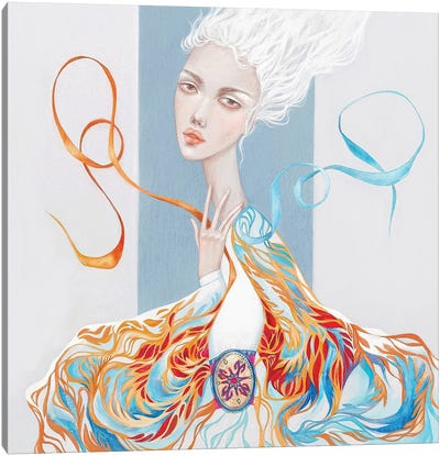 Fire And Ice In Me Canvas Art Print