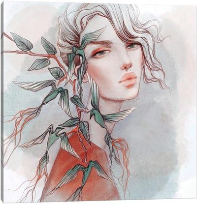Birdflowers Canvas Art Print