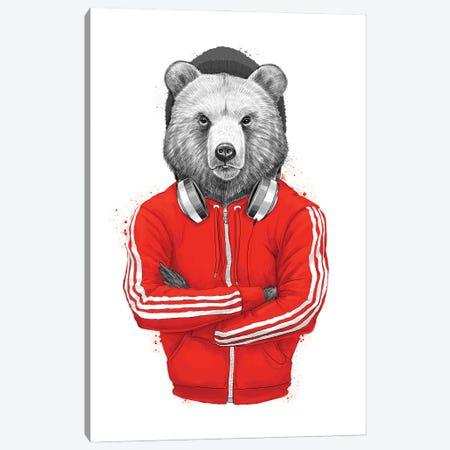 Bear Coach Canvas Print #NKV13} by Nikita Korenkov Canvas Wall Art
