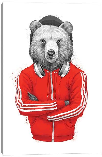 Bear Coach Canvas Art Print