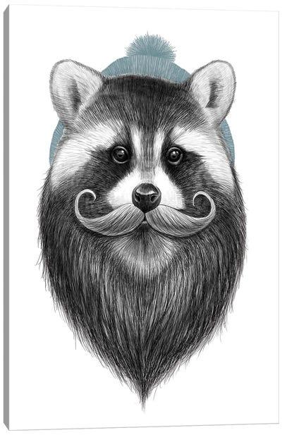 Bearded Raccoon Canvas Art Print