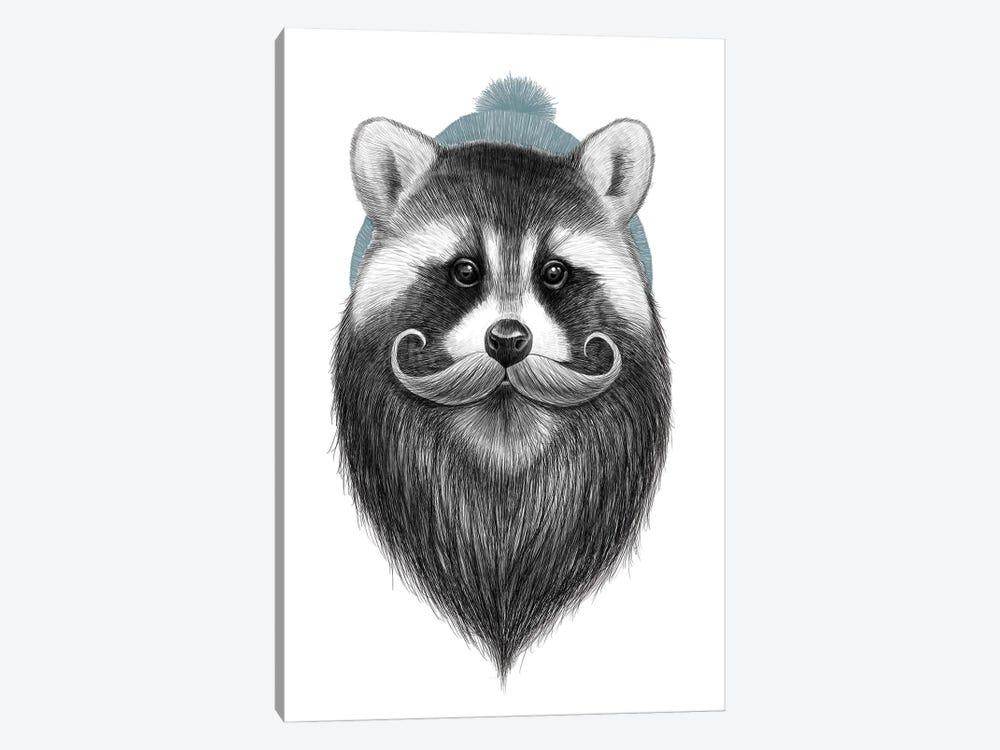 Bearded Raccoon by Nikita Korenkov 1-piece Canvas Wall Art