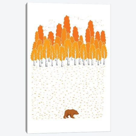 Birch And Bear Canvas Print #NKV19} by Nikita Korenkov Canvas Art