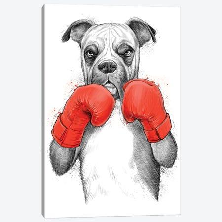 Boxer Canvas Print #NKV1} by Nikita Korenkov Canvas Art