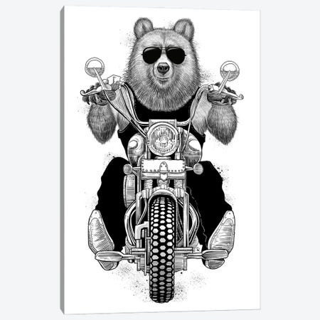 Carefree Bear Canvas Print #NKV20} by Nikita Korenkov Canvas Art Print