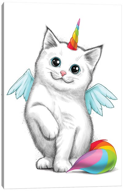 Cat Unicorn Canvas Art Print