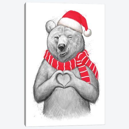 Christmas Bear I Canvas Print #NKV22} by Nikita Korenkov Canvas Art Print
