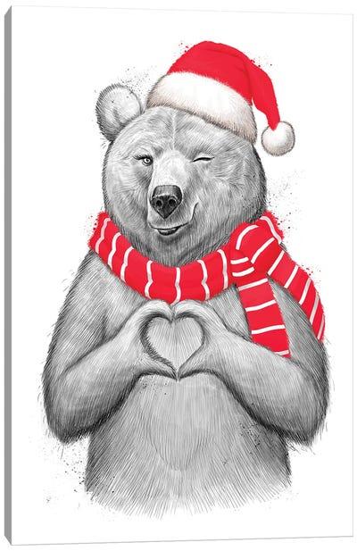 Christmas Bear I Canvas Art Print