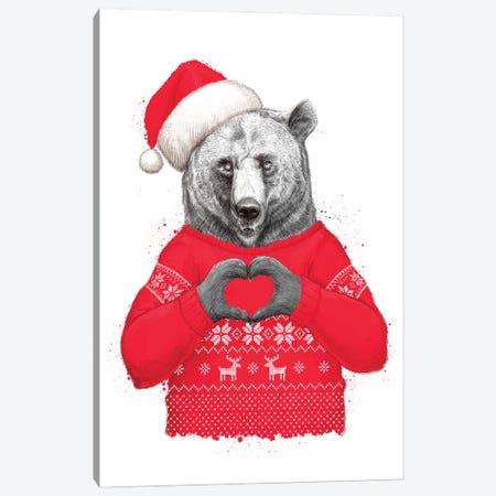 Christmas Bear II Canvas Print #NKV23} by Nikita Korenkov Canvas Print