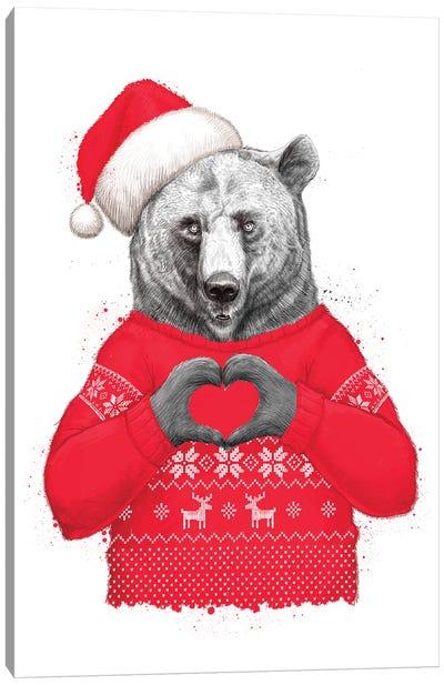 Christmas Bear II Canvas Art Print