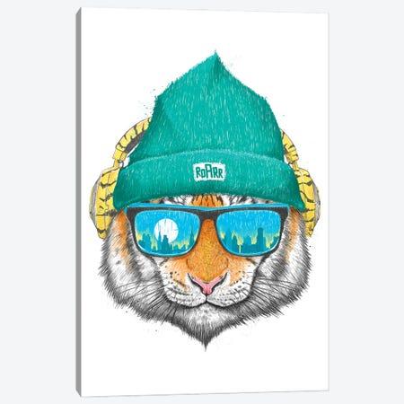 City Tiger Canvas Print #NKV24} by Nikita Korenkov Canvas Artwork