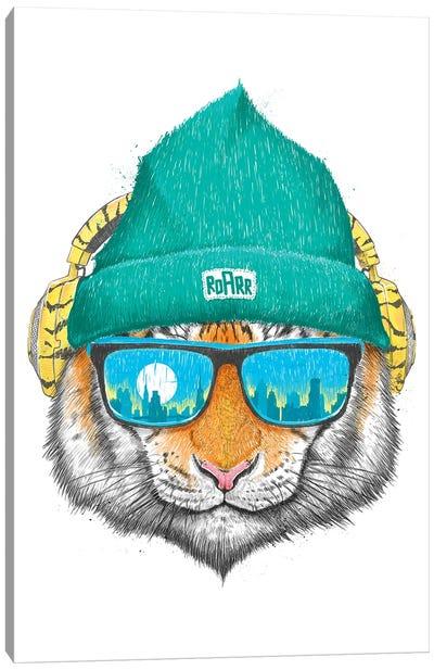 City Tiger Canvas Art Print