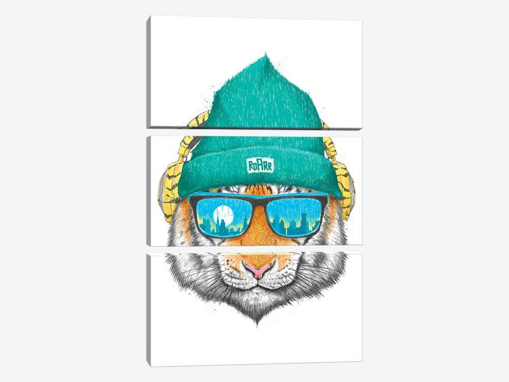 City Tiger by Nikita Korenkov 3-piece Art Print