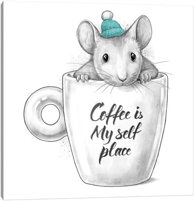 Coffee Is My Self Place Canvas Art Print