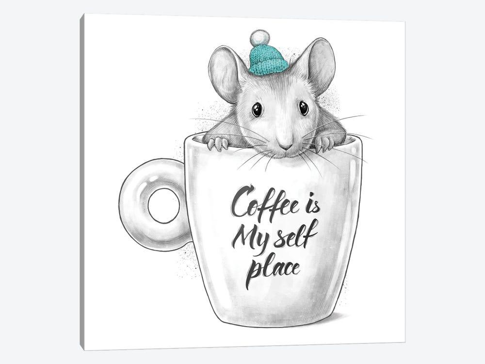 Coffee Is My Self Place by Nikita Korenkov 1-piece Canvas Art