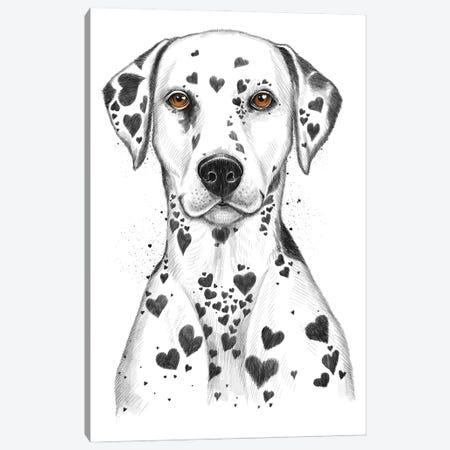 Dalmatian Canvas Print #NKV26} by Nikita Korenkov Canvas Art