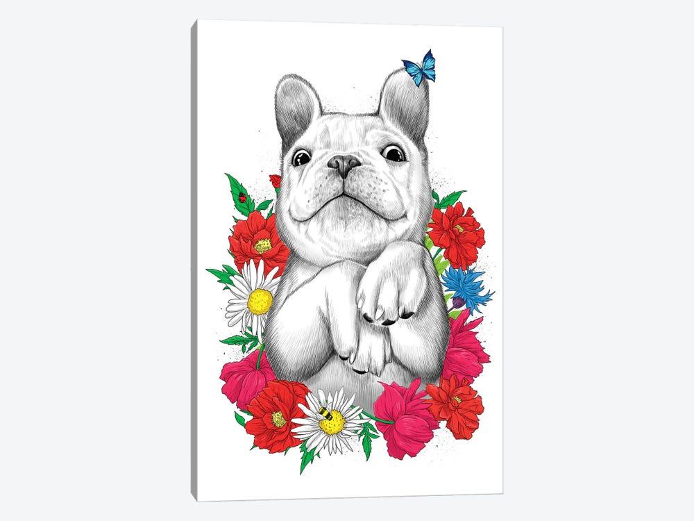 Dog In Flowers by Nikita Korenkov 1-piece Art Print