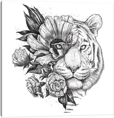 Floral Tiger Canvas Art Print