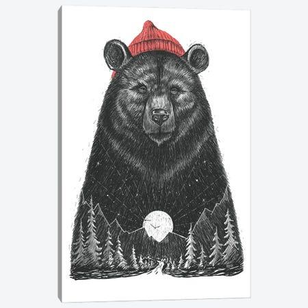 Forest Bear Canvas Print #NKV30} by Nikita Korenkov Canvas Art