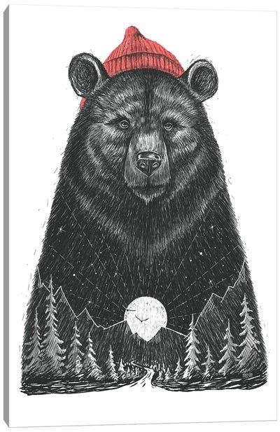 Forest Bear Canvas Art Print