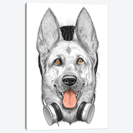 German Shepherd Dog Canvas Print #NKV33} by Nikita Korenkov Canvas Art