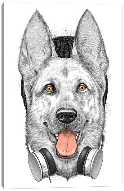 German Shepherd Dog Canvas Art Print