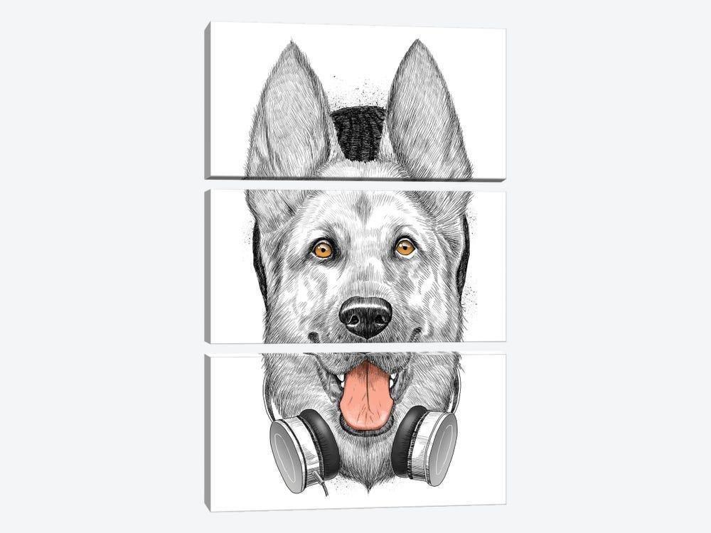 German Shepherd Dog by Nikita Korenkov 3-piece Art Print