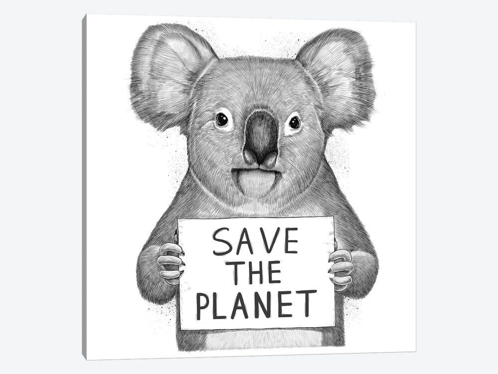 Koala Save The Planet by Nikita Korenkov 1-piece Canvas Artwork