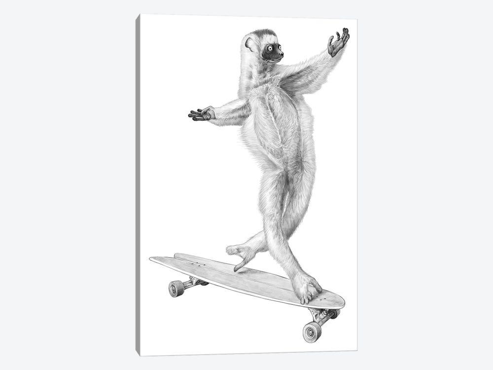 Lemur On The Board by Nikita Korenkov 1-piece Canvas Art Print